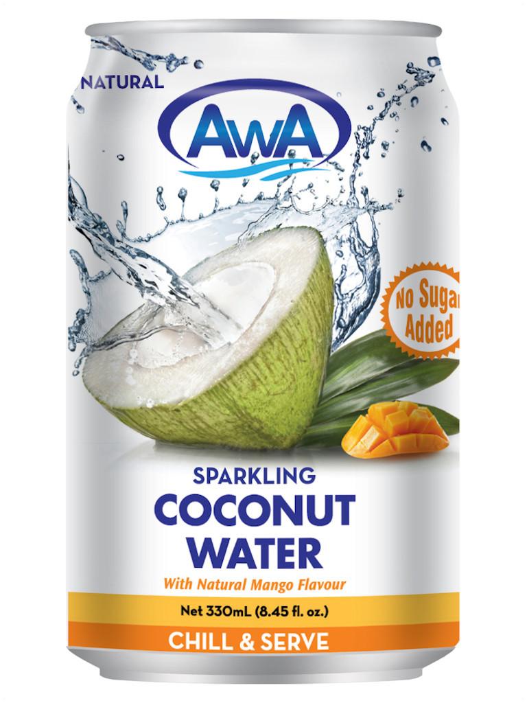 AwA Mango Sparkling Coconut Water